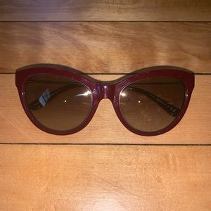 Tory Burch Maroon Cat-Eye Sunglasses